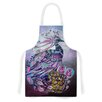 KESS InHouse Peacock by Catherine Holcombe Lavender Artistic Apron