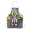 KESS InHouse My Elephant with Headdress by Geordanna Cordero-Fields Rainbow Artistic Apron