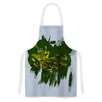 KESS InHouse Watercolo Green by F eric Levy-Hadida Zebra Artistic Apron