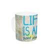 KESS InHouse Life Is Art by KESS Original 11 oz. Ceramic Coffee Mug