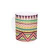 KESS InHouse Ethnic Love by Louise Machado 11 oz. Tribal Geometric Ceramic Coffee Mug