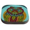KESS InHouse Owl Coaster (Set of 4)