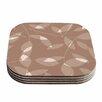 KESS InHouse Leaf Coaster (Set of 4)
