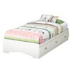 South Shore Tiara Twin Kids Mates Bed with Storage