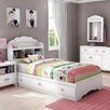 South Shore Tiara Twin Mate's Bed with Drawers and Bookcase Headboard