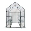 OGrow Deluxe Walk in 6 Tier 4.5 Ft. W x 4.5 Ft. D Plastic Greenhouse