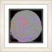 """Studio Works Modern """"Full Moon - Black"""" by Zhee Singer Framed Fine Art Giclee Painting Print"""
