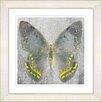 "Studio Works Modern ""Dusk Butterfly - Yellow"" by Zhee Singer Framed Fine Art Giclee Painting Print"