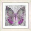 "Studio Works Modern ""Dusk Butterfly - Pink"" by Zhee Singer Framed Fine Art Giclee Painting Print"
