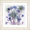 Studio Works Modern Highland Spring Flowers by Zhee Singer Framed Painting Print in Blue