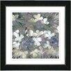 "Studio Works Modern ""Snowdrop Bells Flowers"" by Zhee Singer Framed Fine Art Giclee Painting Print"