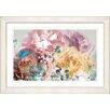 "Studio Works Modern ""Pastel Scented Bloom"" by Zhee Singer Framed Fine Art Giclee Painting Print"