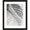 """Studio Works Modern """"Dancing Feathers"""" by Zhee Singer Framed Painting Print"""
