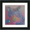 "Studio Works Modern ""Cinderella the Cat"" by Zhee Singer Framed Fine Art Giclee Painting Print"