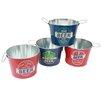 DEI 4 Piece Beer Sayings Tin Bucket Set