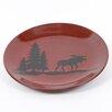 "DEI Woodland River 11"" Moose Stoneware Dinner Plate"