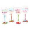 DEI Flip Flop Sayings Wine Glass (Set of 4)