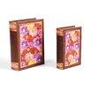 Elements 2 Piece Jeweled Flower Book Box Set