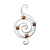 Elements 4 Tea Light Metal S Swirl Sconce