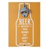 Elements Wall Mounted Wood Magnetic Bottle Opener