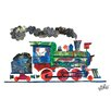Marmont Hill 1,2,3 To the Zoo Character Train Painting Print on Wrapped Canvas