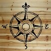 Marmont Hill Compass Graphic Art on Wood Planks in Natural