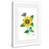 Marmont Hill Butterfly and Sunflower Framed Art Print