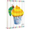 Marmont Hill Caterpillar Cupcake Art Print on White Pine Wood