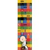 Marmont Hill Charlie Brown And Snoopy Squares Canvas Growth Chart