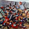 Marmont Hill Football Pile-up by Constantin Alajalov Painting Print on Canvas