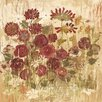 Marmont Hill Floral Frenzy Burgundy VI Painting Print on Wrapped Canvas