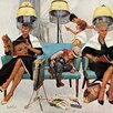 Marmont Hill Cowboy Asleep in Beauty Salon by Kurt Ard Painting Print on Wrapped Canvas