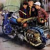 Marmont Hill Tex's Motorcycle by Stevan Dohanos Painting Print on Wrapped Canvas