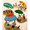 Marmont Hill Couples at the Beach by George Hughes Painting Print on Wrapped Canvas