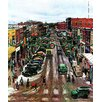 Marmont Hill Falls City, Nebraska at Christmas by John Falter Painting Print on Wrapped Canvas