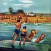 Marmont Hill Ice Cream Truck at the Beach by Stevan Dohanos Painting Print on Wrapped Canvas