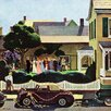 Marmont Hill Backyard Wedding by John Falter Painting Print on Wrapped Canvas