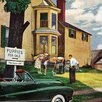 Marmont Hill Picking a Puppy by Stevan Dohanos Painting Print on Wrapped Canvas