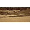 Marmont Hill Brown Barn in the Blonde Grasses Painting Print on Wrapped Canvas