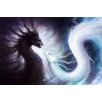 Marmont Hill Yin and Yang Dragons Painting Print on Wrapped Canvas