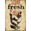 Marmont Hill Chicken Fresh Eggs Painting Print on Wrapped Canvas