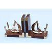Handcrafted Nautical Decor Ship Book Ends (Set of 2)