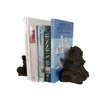 "Handcrafted Nautical Decor 8"" Rustic Cast Iron Turtle Family Bookends (Set of 2)"