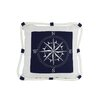 Handcrafted Nautical Decor Compass with Nautical Rope Decorative Throw Pillow