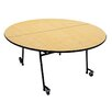 Palmer Hamilton Mobile Folding Cafeteria Adjustable Height Round Table