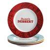 "Cake Boss 4 Piece ""Patterns and Quotes"" Serveware Porcelain Dessert Plate Set"