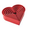 7 Piece Heart Fondant and Cookie Cutter Set