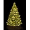Hometime Snowtime 6.6' Green Pre-Lit Alaskan Spruce Artificial Christmas Tree with 350 Clear Lights