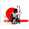 Cortesi Home Trash Polka- Female Samurai by Nicklas Gustafsson Graphic Art on Wrapped Canvas