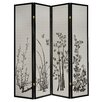 "Milton Green Star Dean 70"" x 69"" 4 Panel Room Divider"